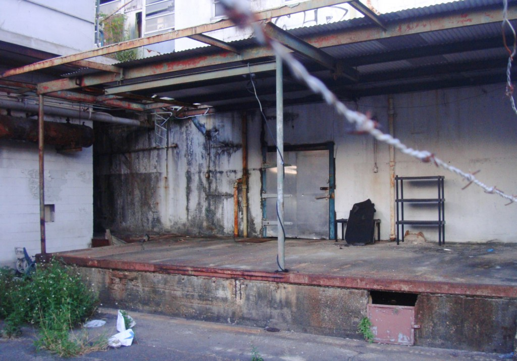 Loading Dock L.A Frey Meat Packing Plant In Bywater via rl reeves jr