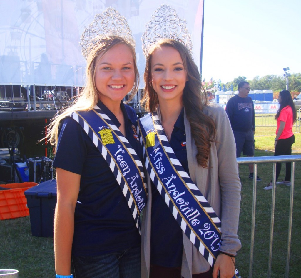 Tabitha Tregre and Madison King at 2015 Andouille Festival In LaPlace, Saint John The Baptist Parish