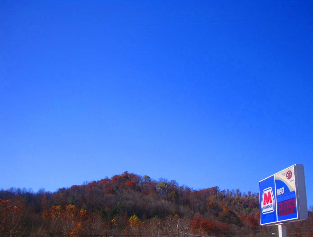 The View From The Parking Lot Of Billy's One Stop Near Barbourville KY