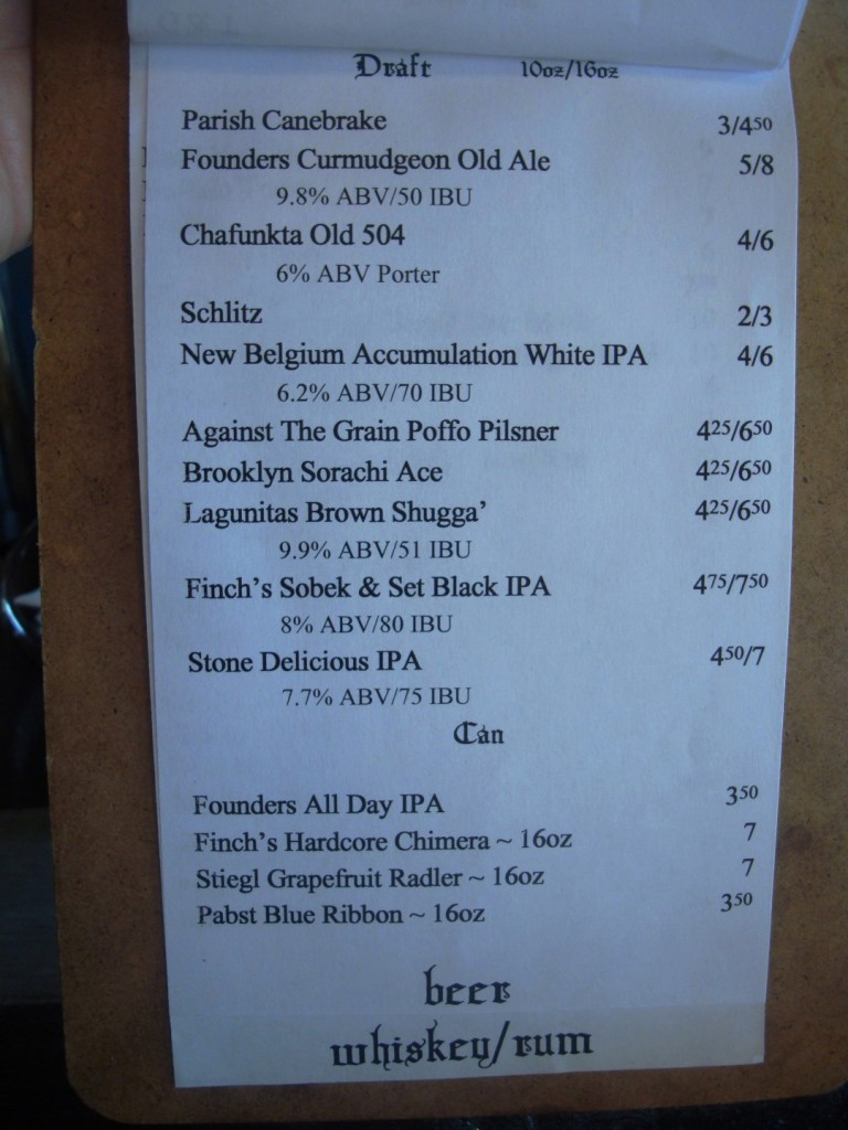 The Draft Beer List At Primitivo