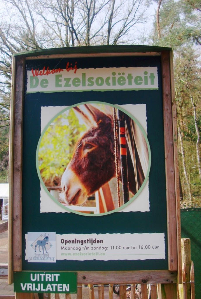 A Sign At The Entrance Of Stichting De Ezelsociëteit in Zeist, Netherlands