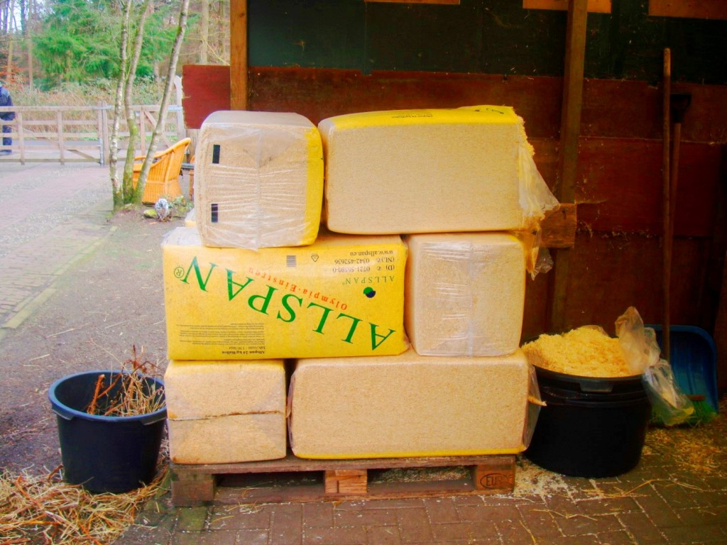 Fresh Bales Of Sawdust Are Essential At Stichting De Ezelsociëteit In Zeist