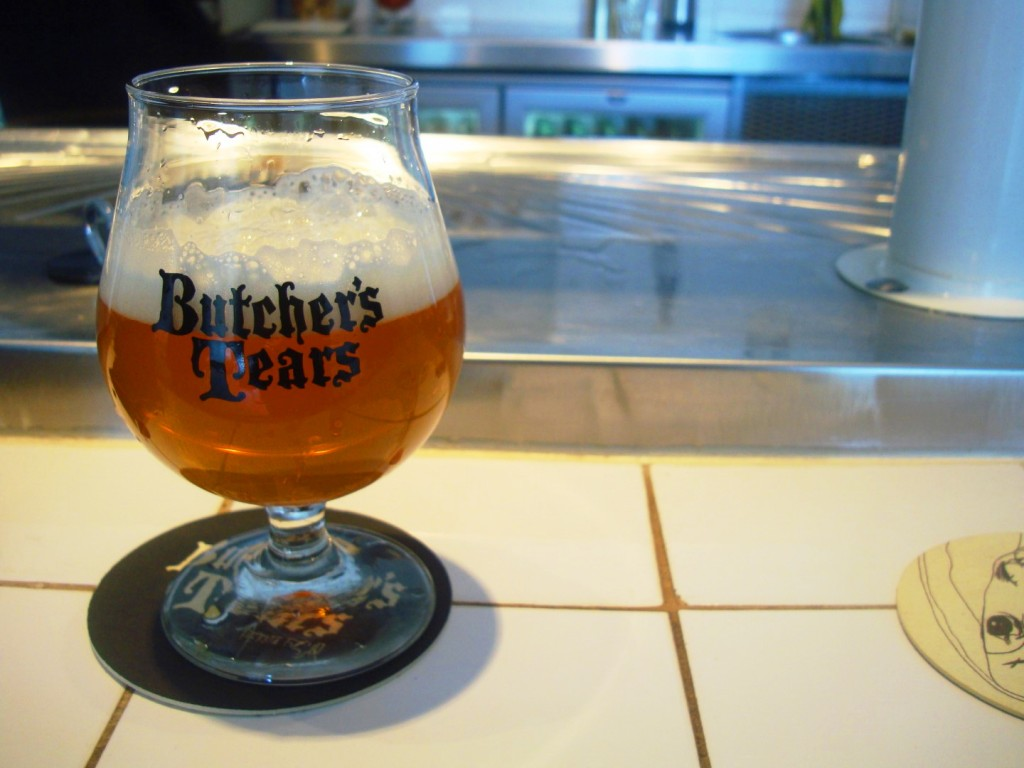 A Glass Of Green Cap At Butcher's Tears