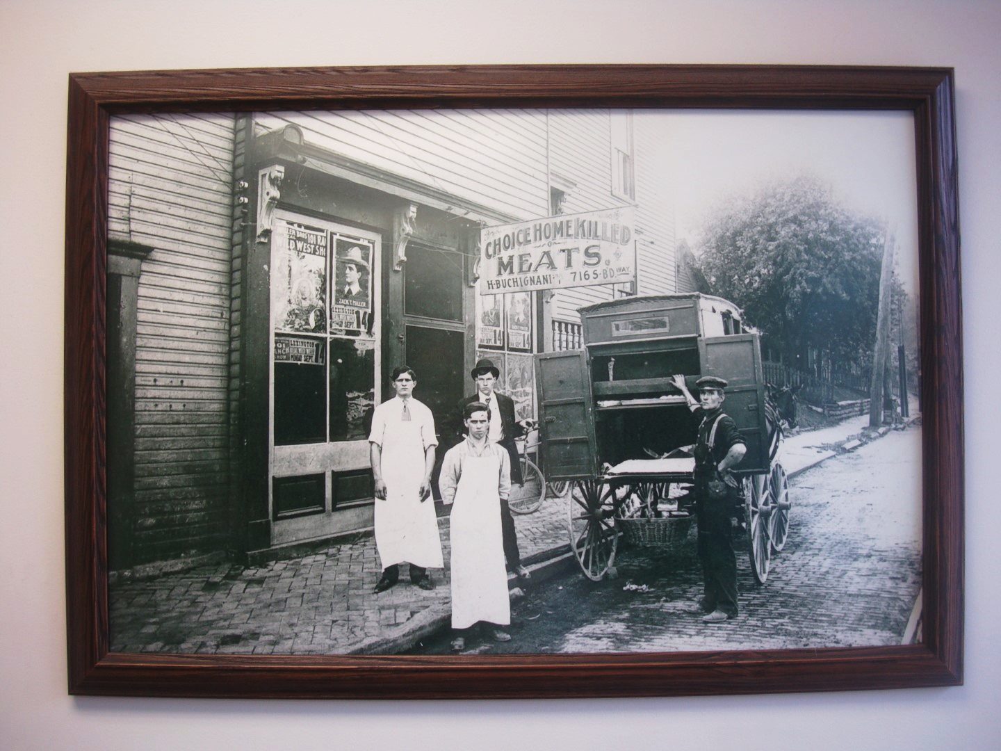 An Old Butchery Is Featured Wall Art At Spalding Bakery