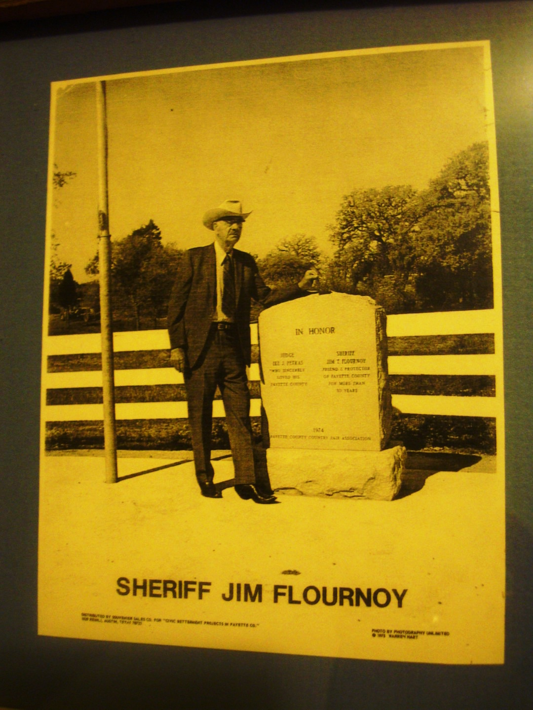 Sheriff TJ Flournoy (Photo From Murphy's Steakhouse In Winchester, Texas)