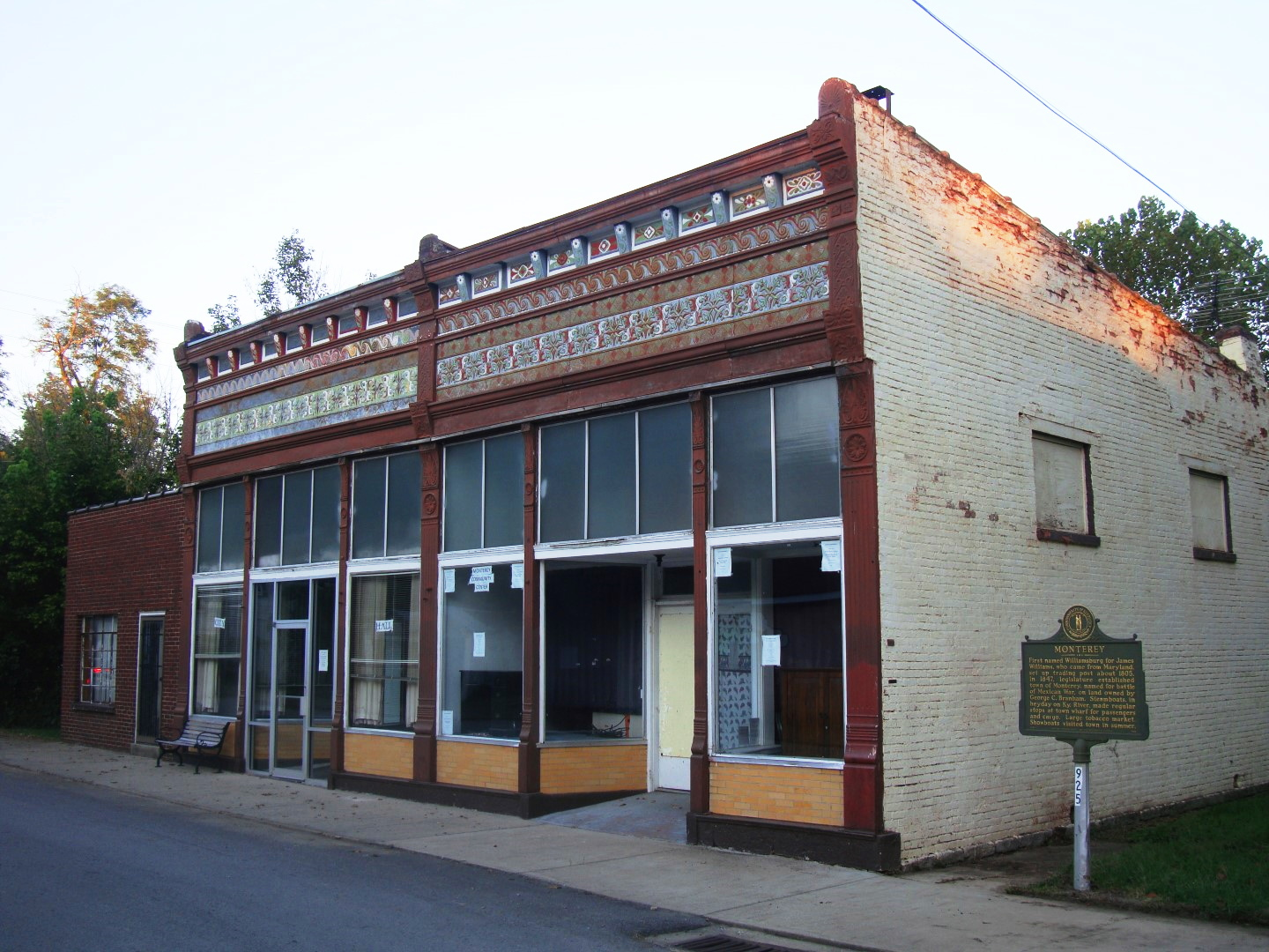 The Once Grand W.D. Hardin store In Monterey, Kentucky